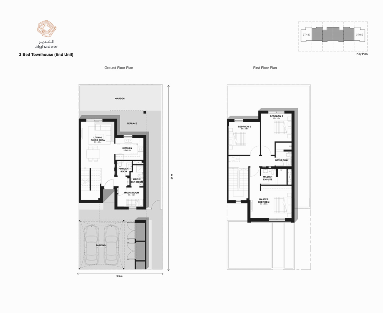 3 Bed Townhouse End Unit