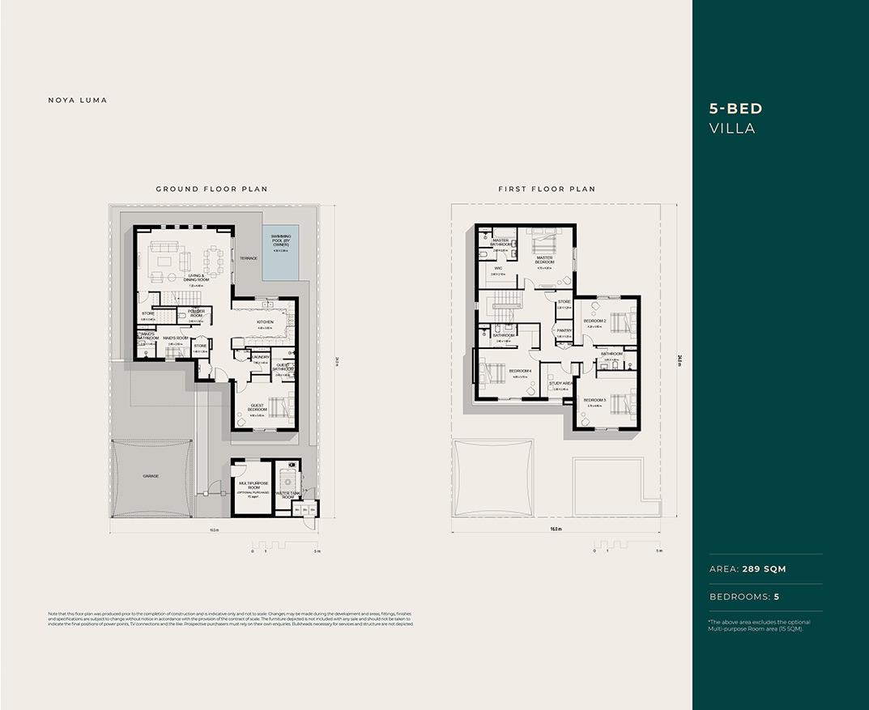 Floor Plan- 5 BED Villa
