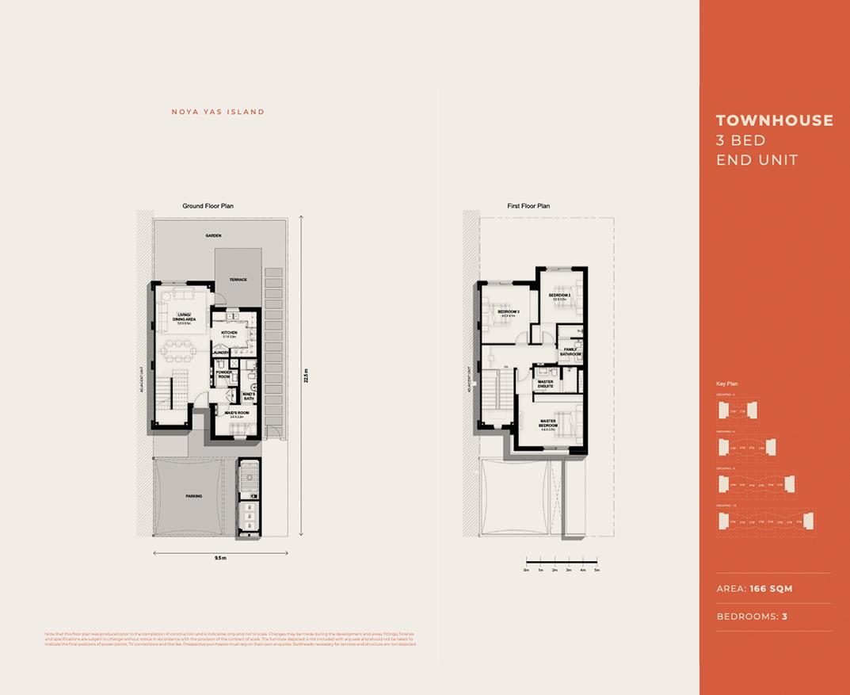 Floor Plan - 3 bed End Unit - EN