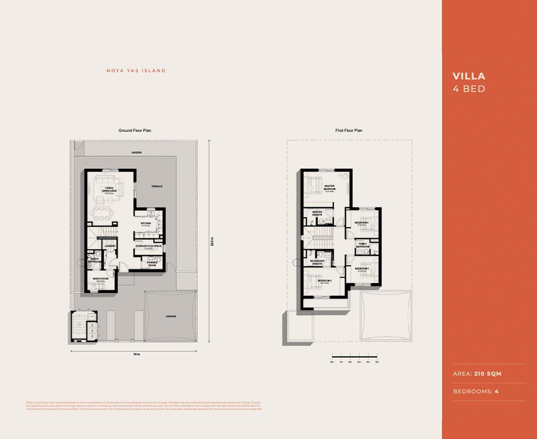 Floor plan - 4 bed - villa - EN