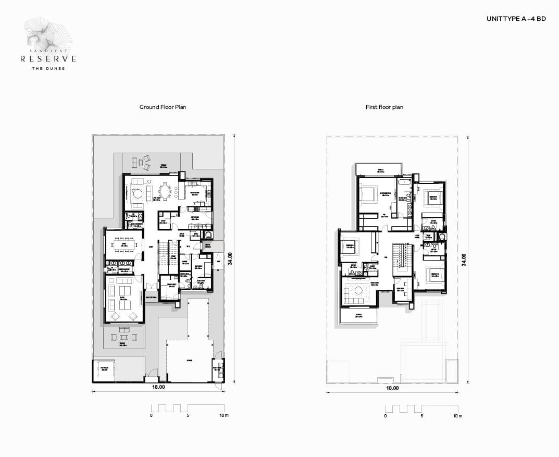 Latest-Floor plans - 1073 x 877-UNIT TYPE A 4 BD_
